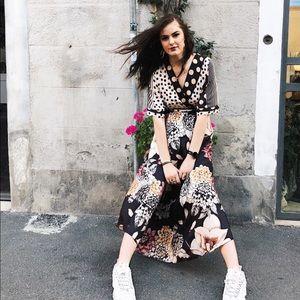 Dresses & Skirts - Mixed Pattered Dress - polka dot floral stripes